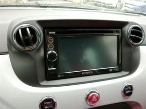 FIAT 500 2DINキット(ブラック)ステリモ対応CANバスアダプター同梱タイプ